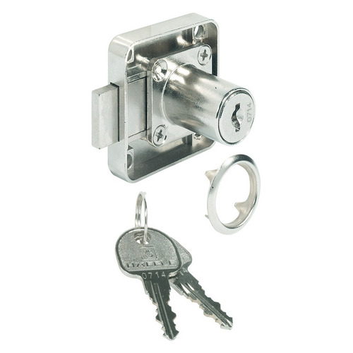 Hafele 232.27.620 Dead Bolt Rim Lock with Fixed Plate Cylinder