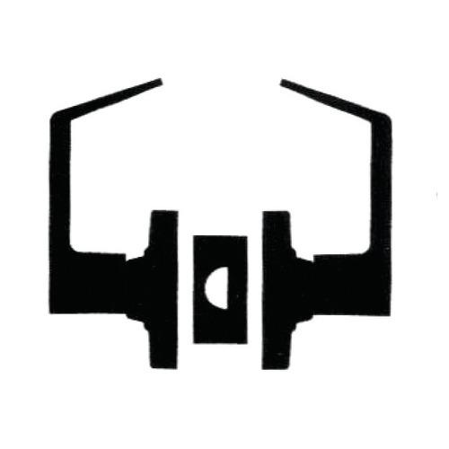 Hafele 911.79.921 Cylindrical Grade 2 Standard Duty L Design Commercial Lever