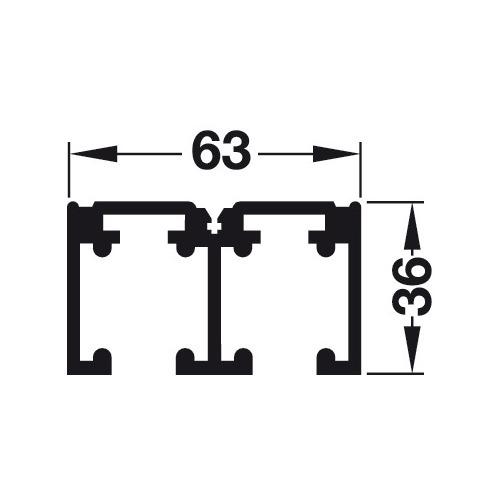 Hafele 940.40.826 Double Upper Track
