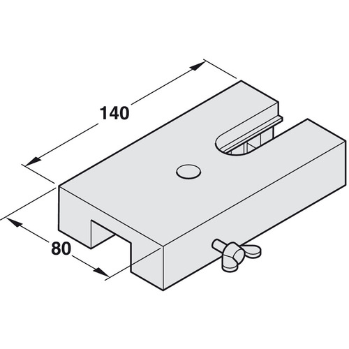Hafele 941.12.090 Drilling and Mortise Jig for Aluminum Frame Profiles