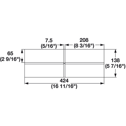 Hafele 556.87.398 Cross Divider