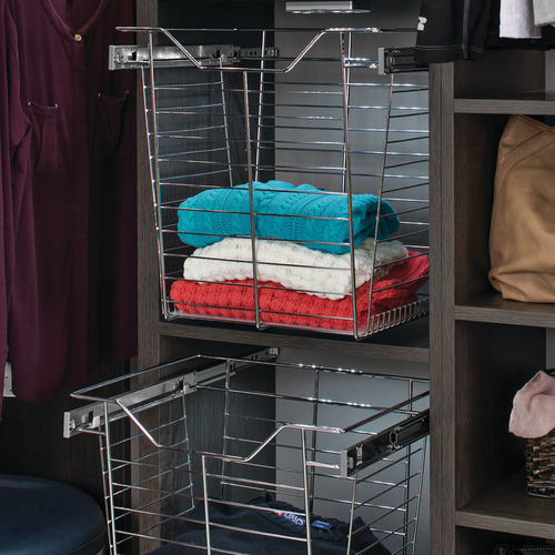 Hafele 547.38.836 Wire Closet Basket with Full Extension Slides